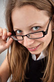 Beautiful smiling woman in glasses Stock Photos