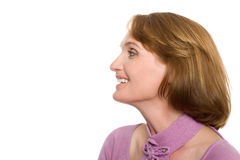 Beautiful smiling woman with a happy look Royalty Free Stock Photography