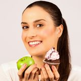 Healthy eating unhealthy eating Royalty Free Stock Photos