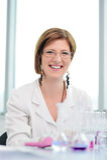 Beautiful woman in laboratory Stock Photos