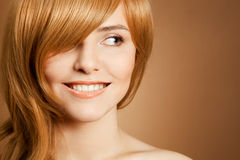 Beautiful smiling woman portrait Stock Images