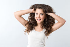 Beautiful smiling woman. Royalty Free Stock Photos