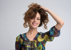 Beautiful smiling woman portrait Stock Photography