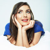 Beautiful smiling  woman portrait. Royalty Free Stock Photo