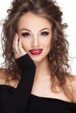 Beautiful smiling woman professional make up Royalty Free Stock Photos