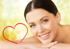 Beautiful smiling woman in spa salon Stock Photos