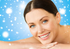 Beautiful smiling woman in spa salon Royalty Free Stock Images