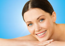 Beautiful smiling woman in spa salon Royalty Free Stock Photos