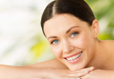Beautiful smiling woman in spa salon Stock Photography
