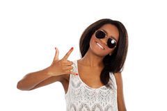 Beautiful smiling woman in sunglasses Royalty Free Stock Photos