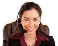 Beautiful Smiling Woman Wearing Headset Stock Photos