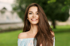 Beautiful smiling woman Stock Images