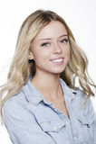 Beautiful smiling young blonde woman Royalty Free Stock Photos