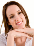 Beautiful Smiling Young Brunette Stock Photo
