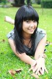 A beautiful smiling young girl Stock Photos