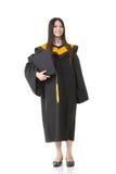 Beautiful smiling young graduation woman standing Royalty Free Stock Photos