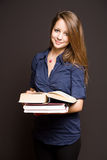 Beautiful smiling young student. Royalty Free Stock Photos