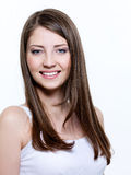 Beautiful smiling young woman Stock Photos