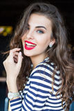Beautiful smiling young woman Stock Images