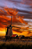 Beautiful Smock Ground Sailer windmill Royalty Free Stock Photography