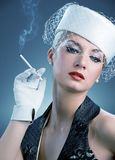 Beautiful smoking woman Royalty Free Stock Photography