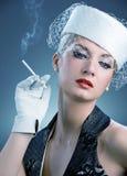 Beautiful smoking woman Royalty Free Stock Photography