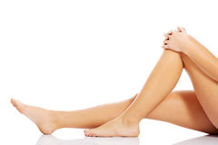 Beautiful, smooth female legs. stock images