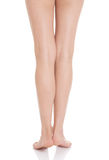 Beautiful smooth and shaved legs. Royalty Free Stock Photography
