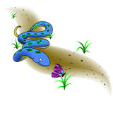 Beautiful snake and butterfly Royalty Free Stock Photography