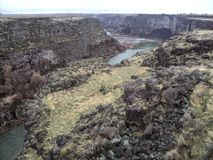 The Beautiful Snake River Canyon Twin Falls Idaho. This is a picture from the bridge where they basejump Stock Images