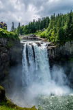 The Beautiful Snoqualmie Waterfall Royalty Free Stock Photography