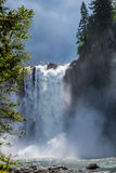 The Beautiful Snoqualmie Waterfall. Royalty Free Stock Images