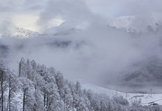 Beautiful Snow-capped Caucasus Mountains Royalty Free Stock Photography