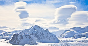 Beautiful snow-capped mountains Stock Photos