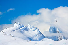 Beautiful snow-capped mountains Royalty Free Stock Image