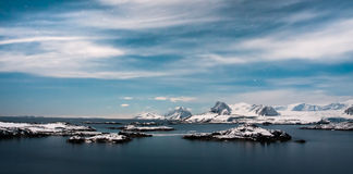 Beautiful snow-capped mountains Stock Photography