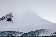 Beautiful snow-capped mountains against the sky. Antarctic landscape Royalty Free Stock Photography