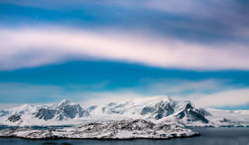 Beautiful snow-capped mountains in Antarctica Stock Images