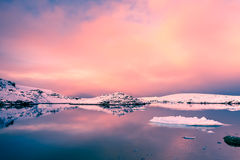 Beautiful snow-capped mountains in Antarctica Royalty Free Stock Photos