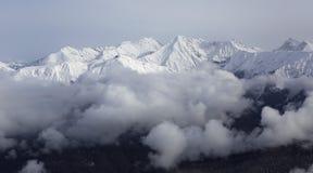 Beautiful Snow-capped Peaks Of The Caucasus Stock Images