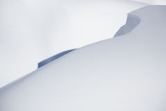 Beautiful snow covered hill detail, winter landscape Royalty Free Stock Images