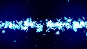 Winter snow crystal falling. Beautiful snow effect on blue background. Christmas. CG snowflake loop animation. Beautiful snow crystal falling. Winter christmas royalty free illustration
