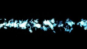 Winter snow crystal falling. Beautiful snow effect on black background. Christmas. CG snowflake loop animation. Beautiful snow crystal falling. Winter christmas vector illustration
