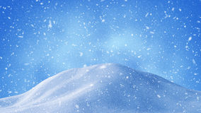 Beautiful snow drifts and snowstorm background Stock Images