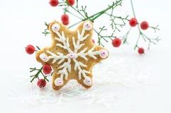Beautiful snow gingerbread Stock Photos