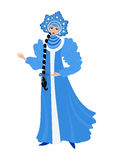 Beautiful Snow Maiden Royalty Free Stock Photography