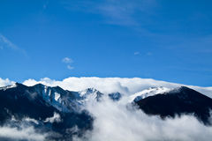Beautiful snow mountain Royalty Free Stock Images