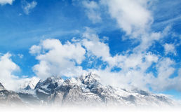 Beautiful snow mountain Stock Image