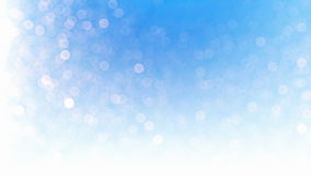 Beautiful snow particles bokeh, against blue stock illustration