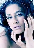 Beautiful snow princess Stock Photography